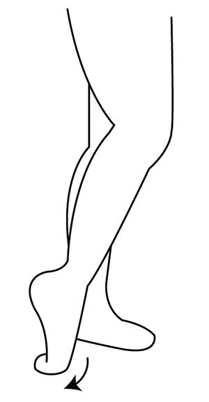 足首のストレッチ1
